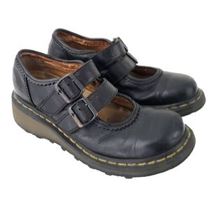 Dr. Martens Black 3B41 Double Strap Mary Jane  8